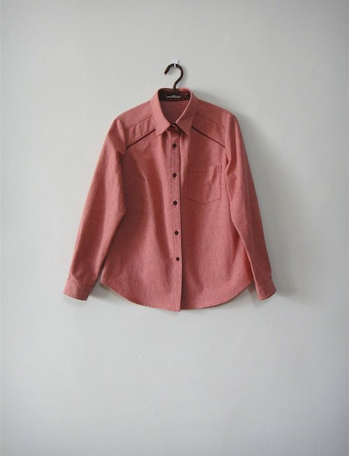 [Addition X Addition_ hand made. Red just good theory. Shirt]