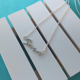 [Christmas (exchange gifts)] [Tanabata Valentine's Day Recommended] [custom] English name sterling silver necklace (6-7 words or less recommended)
