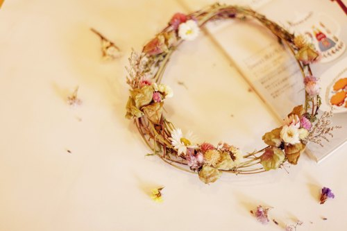 [Good day] as hand-made wreath summer