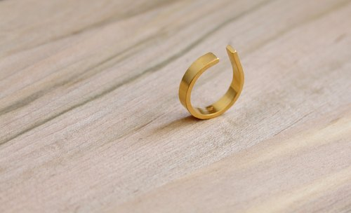 [ODY] HandMade × 24K GOLD PLATED × AIR RING × simple design hand-crafted sterling silver gilt ring