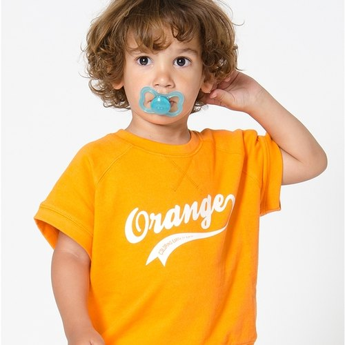 Swedish organic cotton clothing Shampoodle Résistance orange shirt