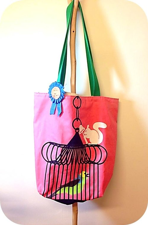 [ Just a Simple Tote ] 松鼠也養鳥