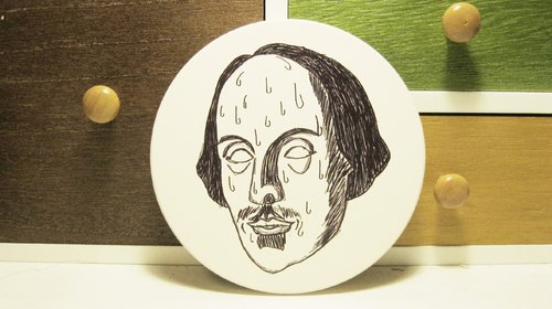 [Mr. Shakespeare cold sweat] ceramic absorbent coasters (Limited Sold)
