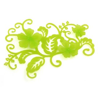 Peony Mural CLEAR GREEN transparent green