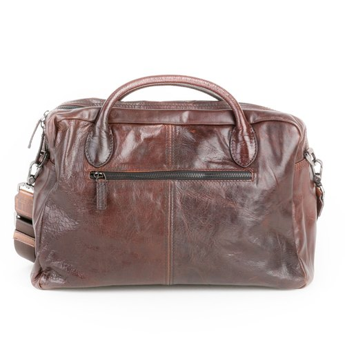 Classic dark brown color personalized color models hand-stitched leather handbag - Limited / side backpack / shoulder bag / leather / Leather