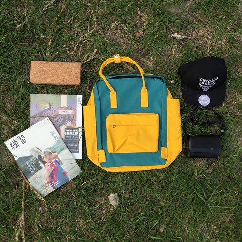 Melon Yellow - After traveler の backpack / handbag / collision color bag / waterproof bag