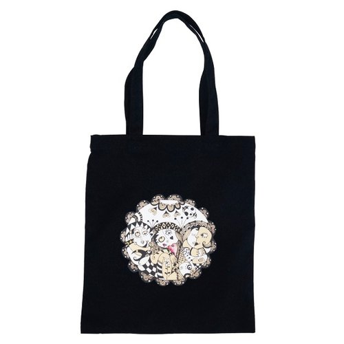 Small village painter │ │ garden heart illustration black straight Bag