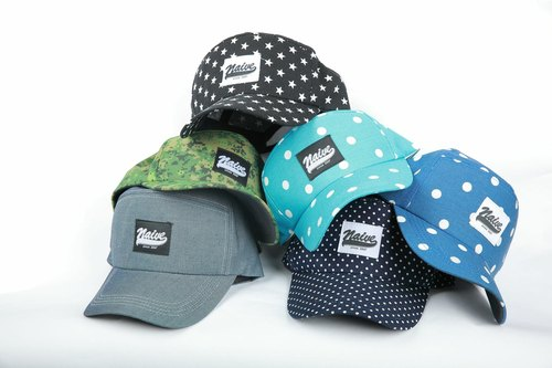 Limited naive cap - multi-style light blue Big dot models