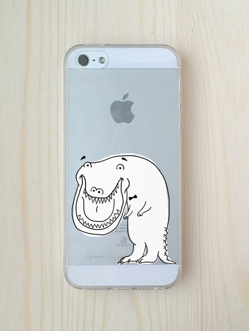 Restart -! Smile It's no big deal transparent soft shell phone shell // // Only iPhone