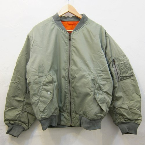 ✵ ✵ Boyhood grayish green ma-1 flight jacket classic vintage style jacket for men and women both wear neutral section