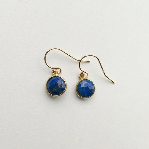 Simple lapis earrings