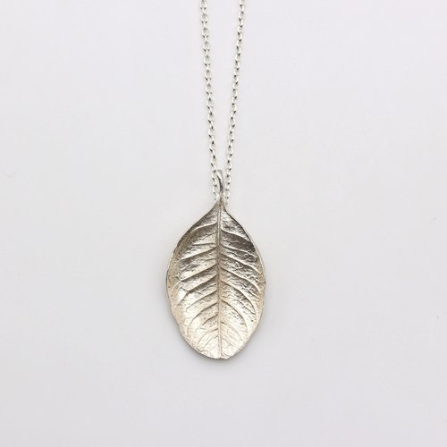 Department of Forestry Silver Necklace - Osmanthus Leaf