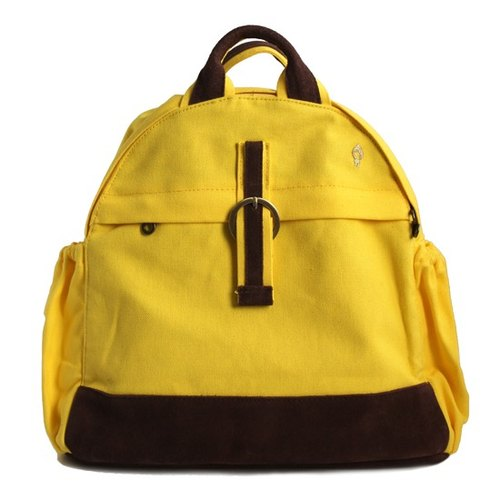 layoo to yo balls │ Royal leather waterproof canvas backpack after [yellow]