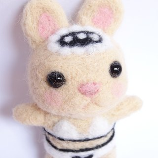 Bunny Swimwear-Wool felt  (key ring or Decoration)