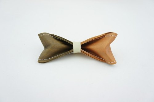 Paper Bow Tie - two color (chocolate champagne) -No.197