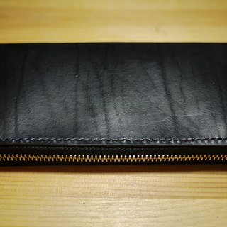 小島手工拉鍊長夾 Leather Zip Around Wallet