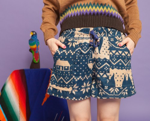 ✬saibaba ethnique // geometric snowflakes little shorts ✬