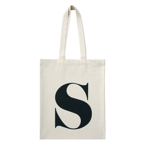 Alphabet Bags Tote letter [S] (Production UK / free shipping)