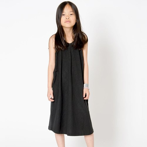 [Design] Sweden Nordic Sling Dress organic cotton children's clothing children's clothing _ black Shampoodle