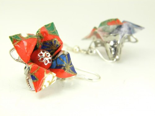 Origami earring (Y18BOK2CAr)