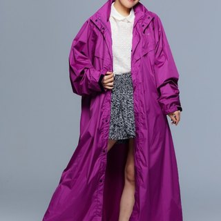Paris - French rainbow simple coveralls raincoat / motorcycle raincoat / Putao Zi