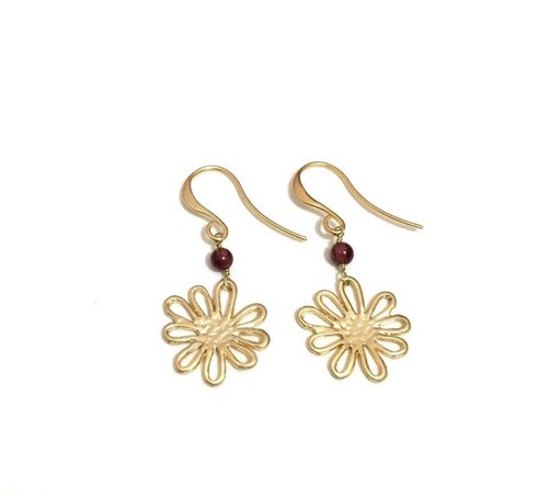 Little Elegant Gold Plated Earrings