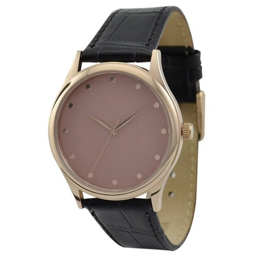 Minimalsit 12 dots watch (Rose gold/Rose gold)