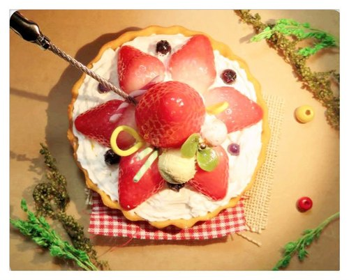 [Sweet Deco tower in manual spring strawberry cream memo clip