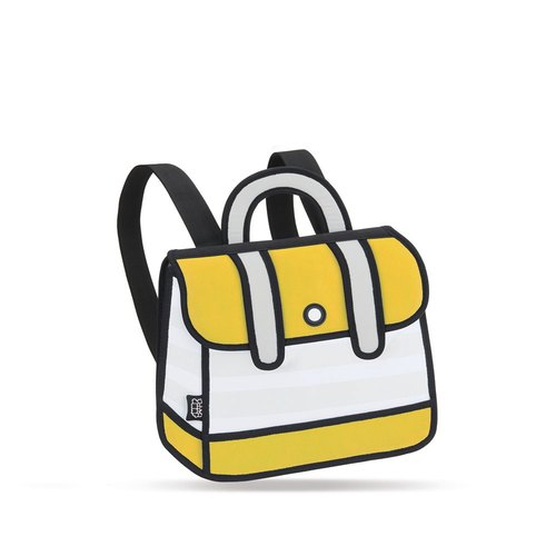 JumpFromPaper™ Yellow Stripe Backpack 後背包(黃)