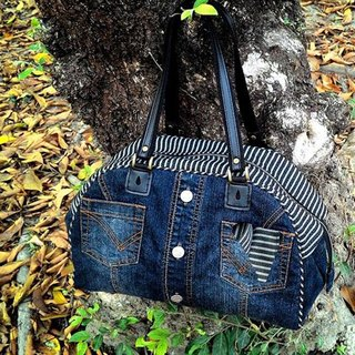 Love the Earth hand-made jeans restructuring package * Boston bag | choose your favorite fabric