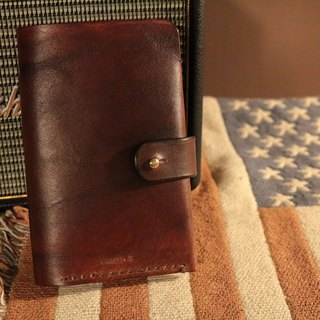 Golden Forest handmade leather original leather classic brown passport holder