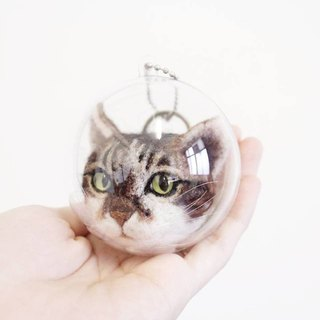 Custom wool felt pet charm / cat key ring / cat charm