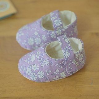 · British purple floral baby shoes (large baby)