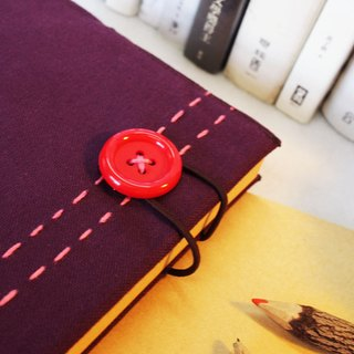 Hand clothes for the book [notebook] Etude luxury pink purple canvas X subsection (Big = A5)