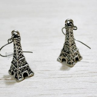 Alloy * stereo ToWeR * _ hook earrings