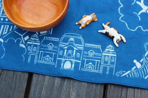 Handmade blue dye placemat / Tainan impression