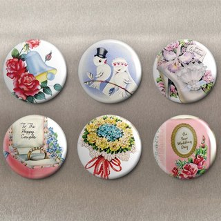 Happy Marriage - Magnet (6 in) / Badge (6 in) / Birthday Gift [Special U Design]