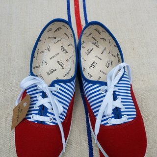 victoria Spanish nationals handmade shoes - Navy wind CARMIN (shoelace paragraph) (out of print)