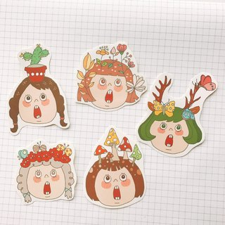Small forest sticker set 5 into