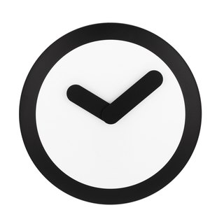 NeXtime - Focus Silver Swing Clock - Black