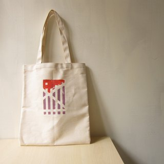 Serigraphy national wind totem canvas shoulder bag