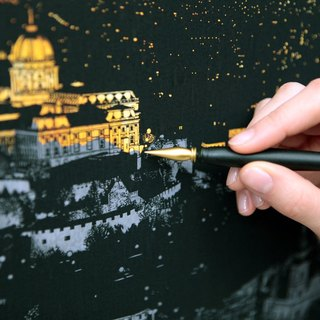 Lago Hand Scratch City Golden Night (with Scratch Bars) - Budapest, LGO93447