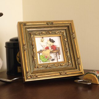 """Animals have little life"" frame containing original hand-painted watercolor illustration"