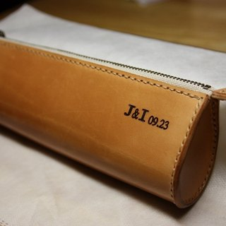 Tianyue hand skin leather cowhide handmade pencil case pen (small) free lettering