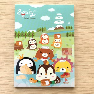 Squly & Friends Memo Pad (Hot spring) (D013SQS)