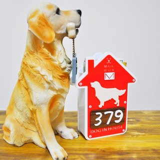 dog in house-mail < handmade acrylic >