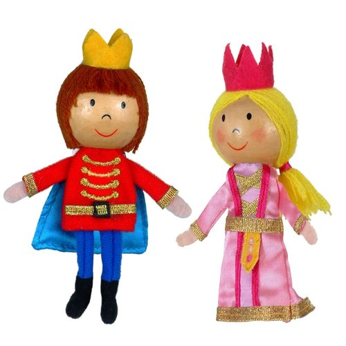[UK Fiesta moving hands and play + creative +] Little Prince Little Princess creative fingers even Toys (the two groups)