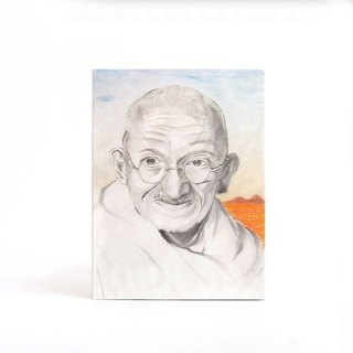custom portraits - Chinese ink painting - time goes fast - Easy Gallery Wrap