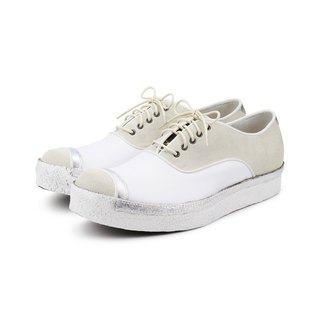 Snow Killer M1153 White leather sneakers