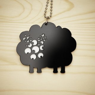 【Peej】'Radio-Active Sheep' Double layered Acrylic key chains/necklaces